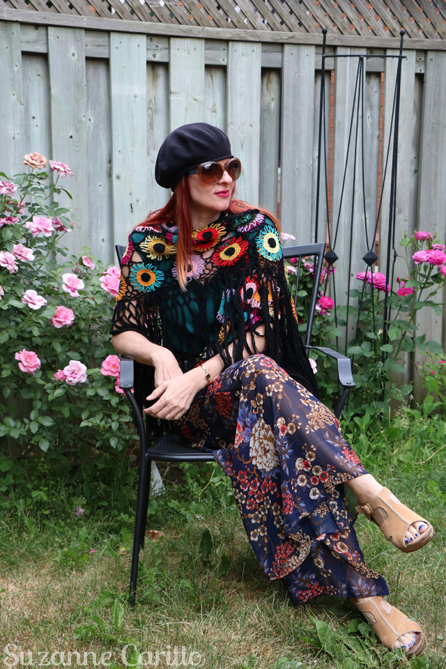how to style a crocheted poncho over 40 suzanne carillo