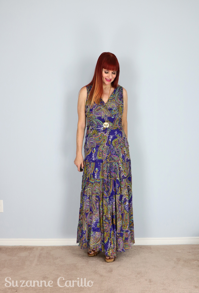 jones new york purple maxi dress suzanne carillo