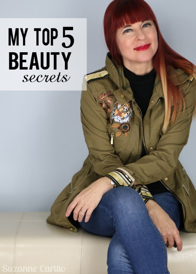 my top five beauty secrets over 40 style suzanne carillo