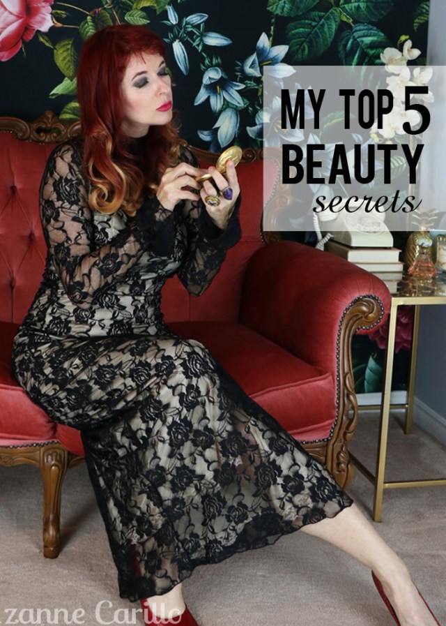 my top five beauty secrets suzanne carillo over 50 style blog