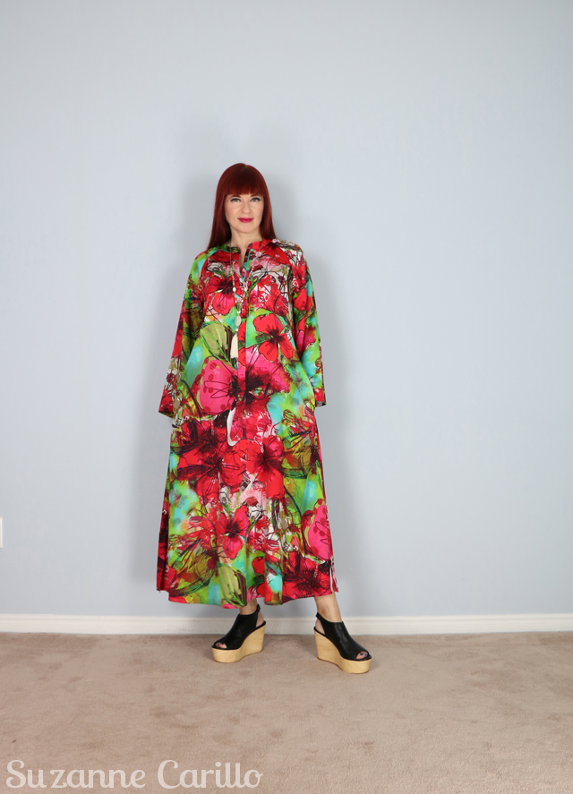 oversized floral kaftan dress suzanne carillo