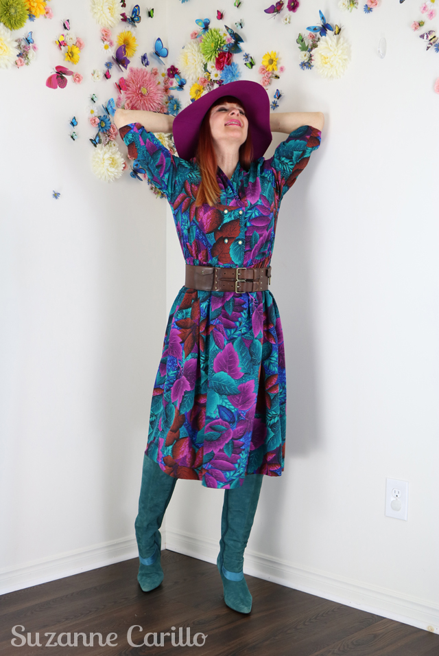 80s vintage floral dress for sale suzanne carillo