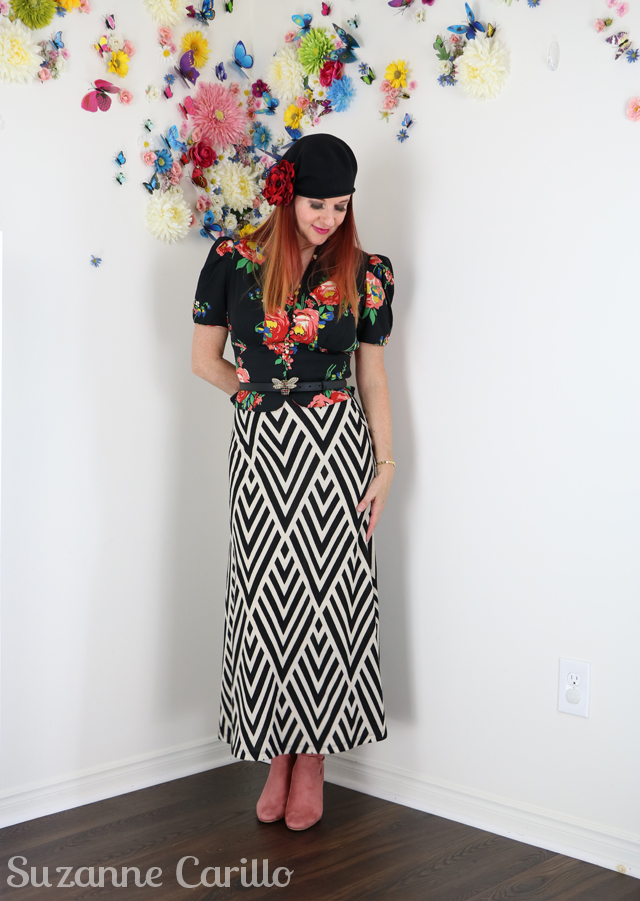 thrifted gucci style outfit over 50 style suzanne carillo