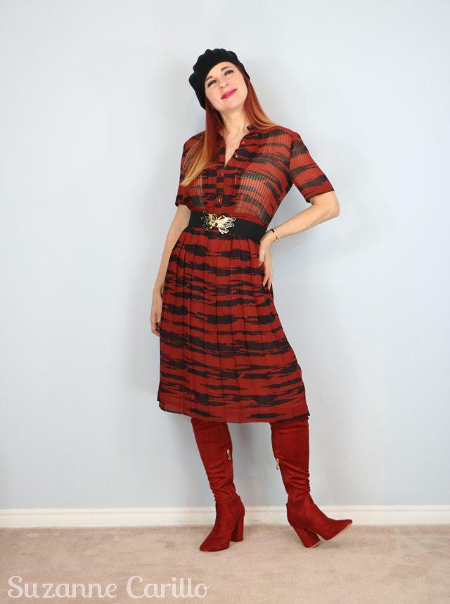 animal print rust 1970s vintage dress for sale vintagebysuzanne on etsy