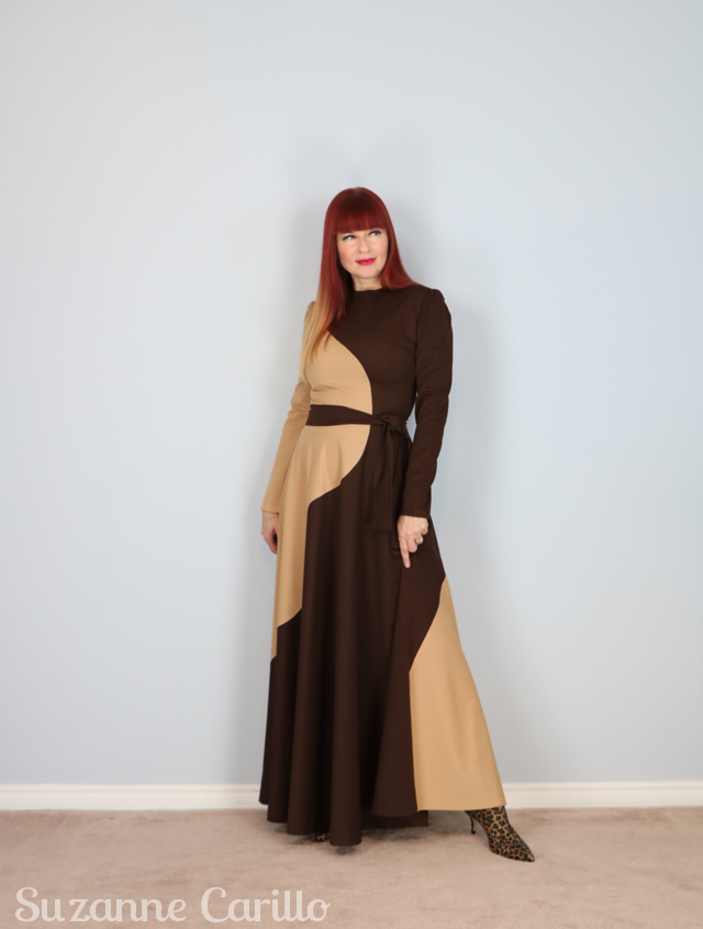 rushing to the end vintage mod maxi dress suzanne carillo