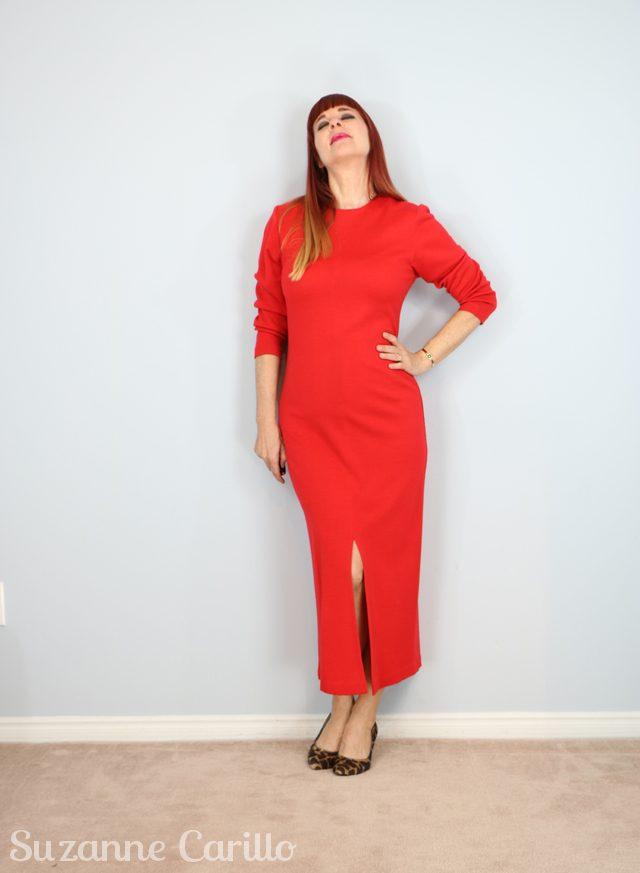 vintage 1980s red spanner dress for sale vintagebysuzanne on etsy