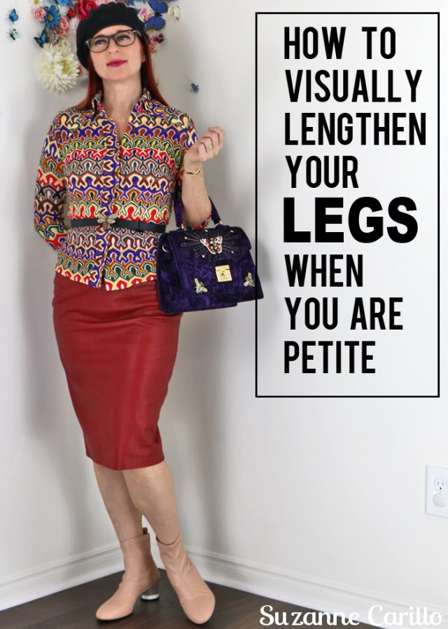 how to visually lengthen you legs when you are petite
