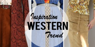 western trend inspiration with layered denim dress