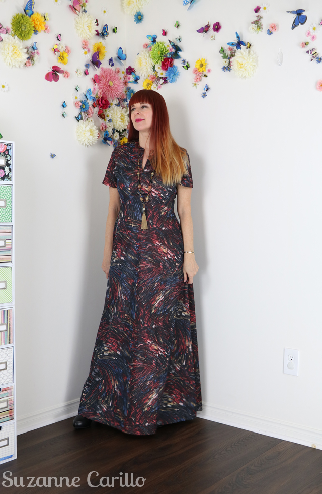 vintage 1970s maxi dress suzanne carillo style wear vintage over 40