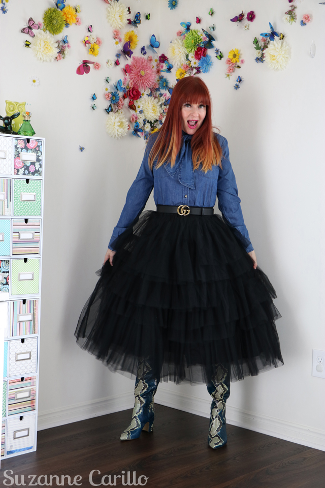 barbie style over 50 tiered tulle skirt suzanne carillo