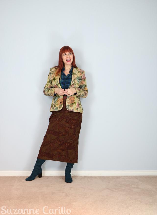 wear three different prints together suzanne carillo
