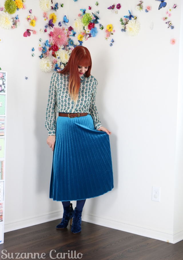 style over 40 midi pleated skirt suzanne carillo style