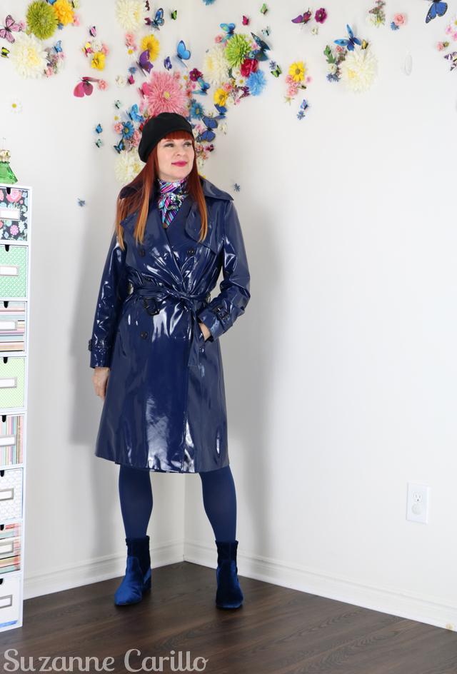 spy raincoat suzanne carillo style