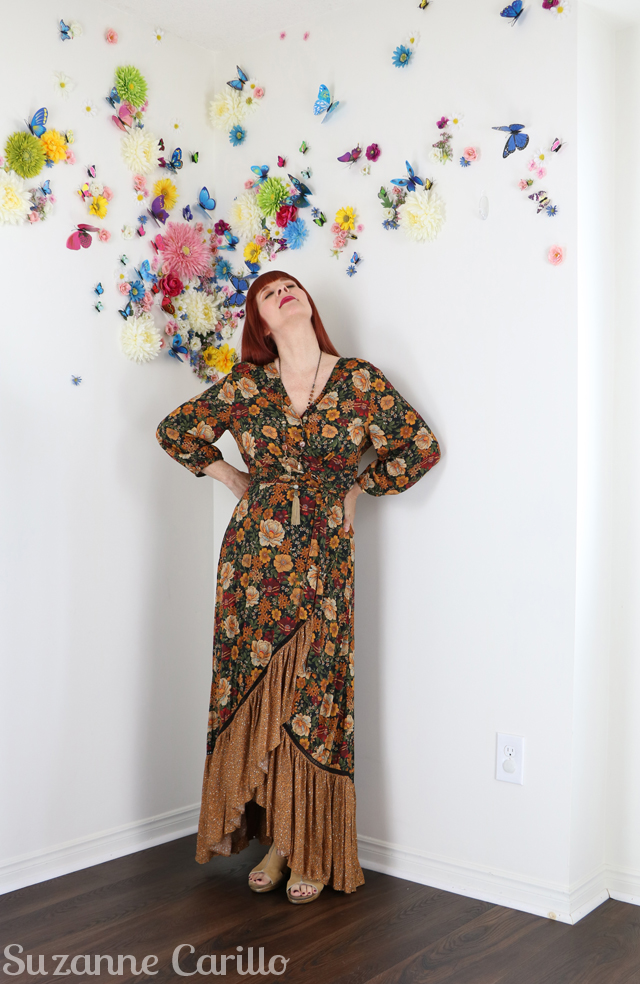 age appropriate dressing over 40 suzanne carillo boho maxi dress