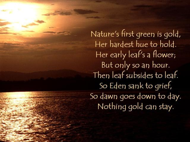 robert frost nothing gold can stay poem
