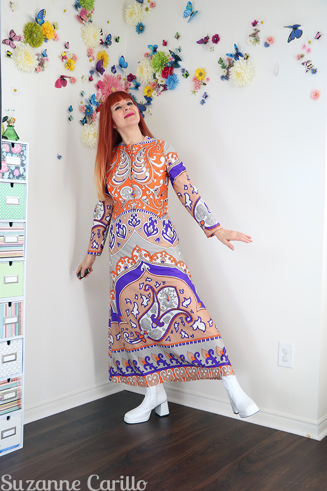 1970s vintage dress suzanne carillo