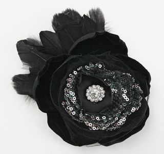 Sequins black pin feathers500