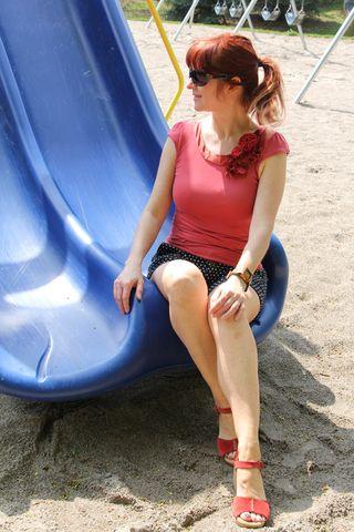 Slide sitting