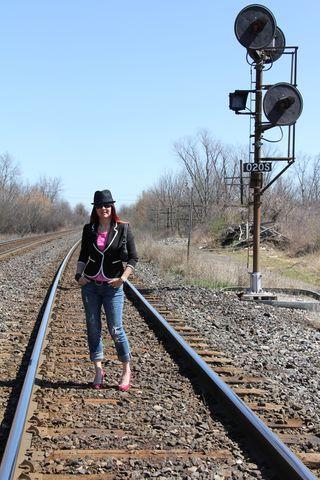 Pink sequins bowler hat rails far