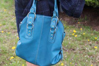 Blue handbag