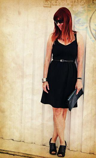 Cynthia rowely black dress