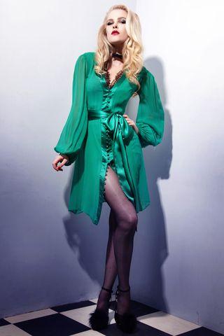 Green goddess dress