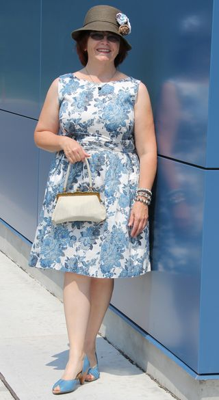 Dorothy perkins blue floral cotton dress
