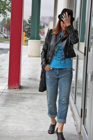 Joe fresh jeans black H&M leather jacket