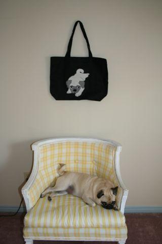 Zoe with bag