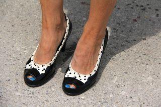 Polk-a-dot shoes
