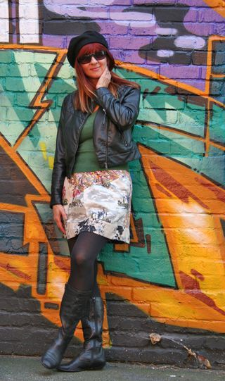Leather jacket anthropologie skirt