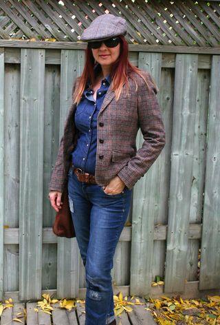 H&M jean shirt and blazer