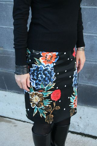 Bright floral pencil skirt anthropologie