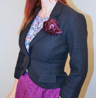 Blue anthropologie fitted blazer