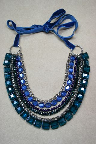 Blue green purple jewel necklace suzanne carillo