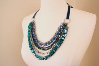 Silver blue purple jewel necklace suzanne carillo