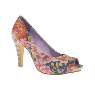 Rust floral shoes