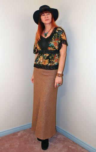 Maxi skirt boho top