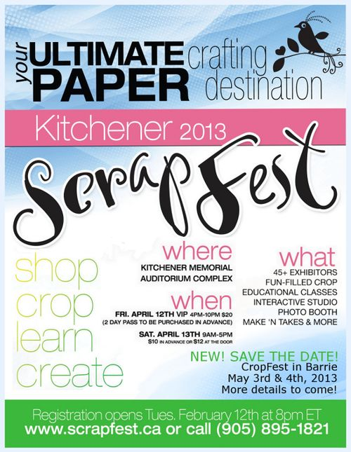 ScrapFest 2013 Kitchener Ontario