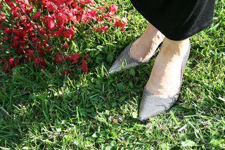 Nine west silver shoes