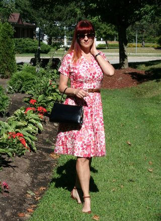 Sweet trash pink red vintage dress