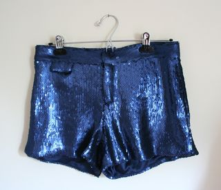 Blue sequin shorts small
