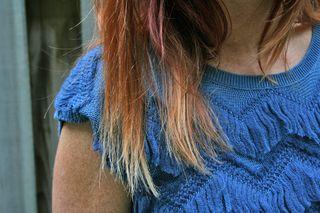 Blue anthropologie sweater