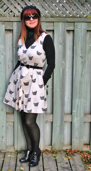 Black cat anthropologie dress