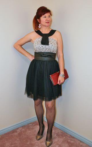 Anthropologie top black tulle skirt
