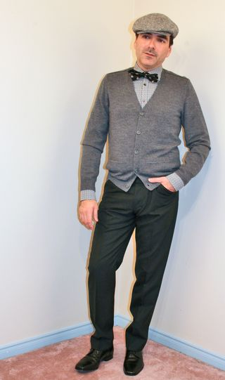 Black and grey outfit for men