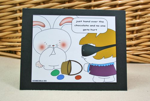 Hand over the chocolate funny easter card