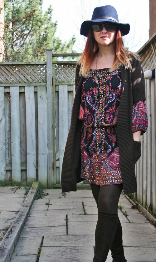 Boho consignment store dress