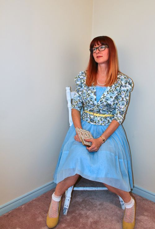 1950's blue dress
