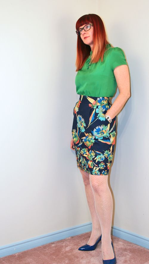 Geen and floral anthropologie dress
